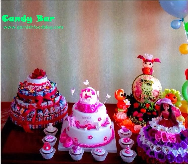 baby shower fruit candy bar