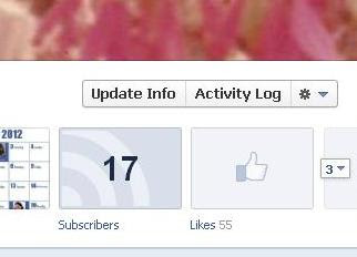 Facebook Timeline Activity button