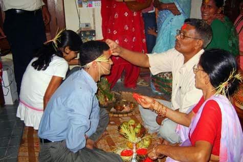 Bijaya dashami Teeka Dashain festival