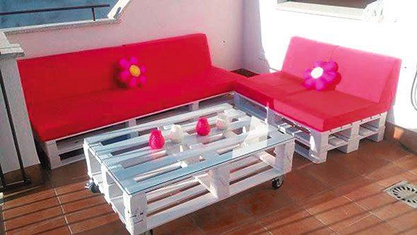 Tarimas recicladas para muebles aprende a decorar for Muebles con tarimas para cocina