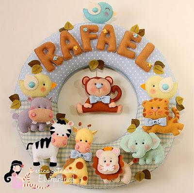 animais festa tema safari com moldes