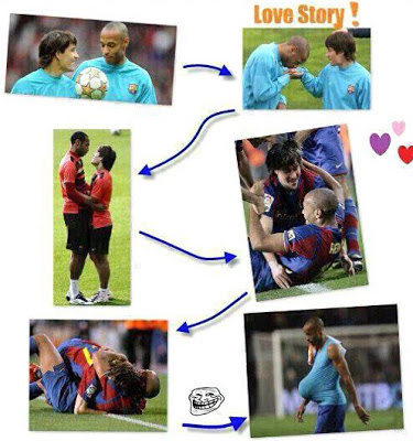 Messi - Thierry Henry love story funny