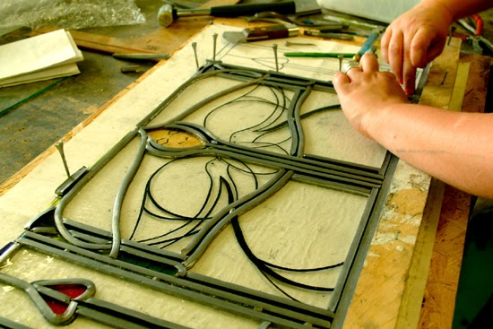 how to make a stained glass window without glass