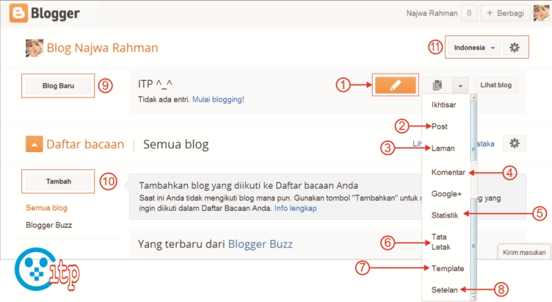 Memahami Halaman Blogger