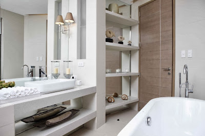 desirable bathroom design that is filled with attractive sea inspired pieces which are locally made