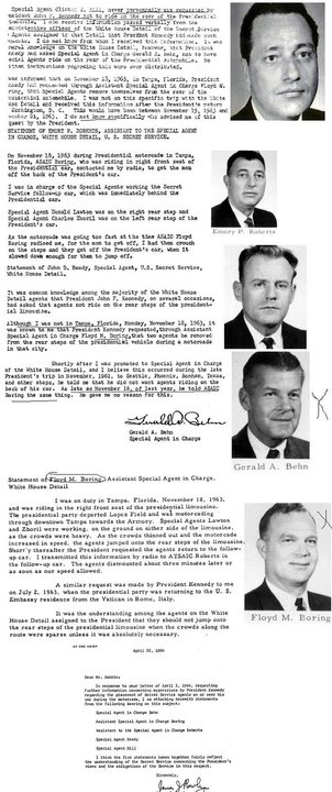 THE APRIL 1964 CYA REPORTS FROM A SELECT FEW AGENTS- BLAMING THE DEAD VICTIM