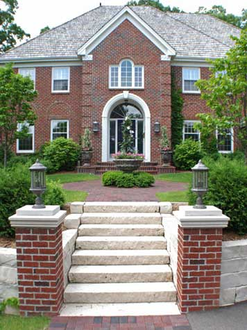 Brick Driveway Pillars1