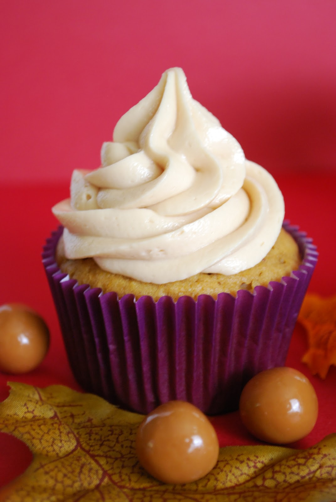Bake.Frost.Repeat: Pumpkin Spice Cupcakes with Caramel Buttercream
