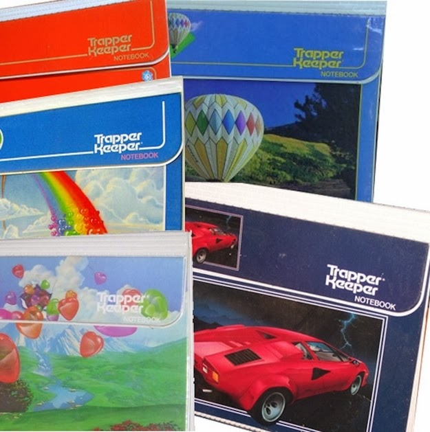Getting pumped about the new school year because it meant a new Trapper Keeper