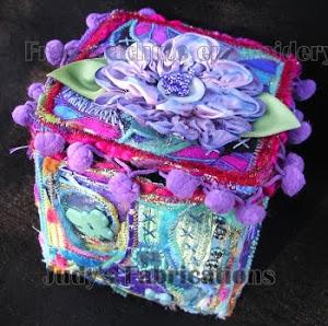 Fabric Collage/Textile Box
