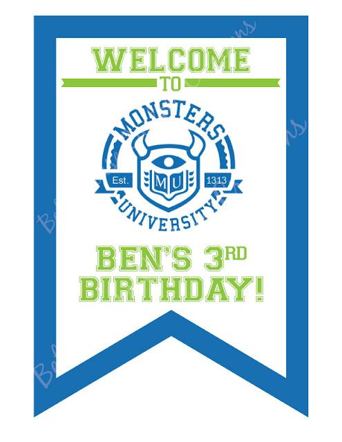 Beth Kruse Custom Creations: monsters university