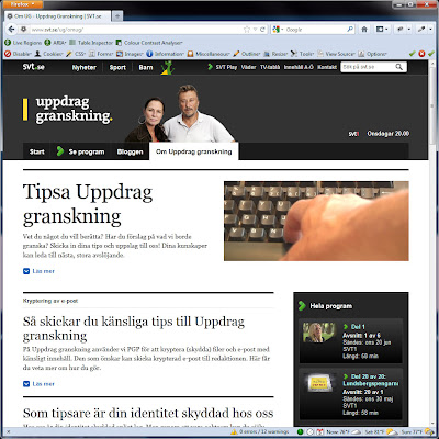 Screen shot of http://www.svt.se/ug/omug/.