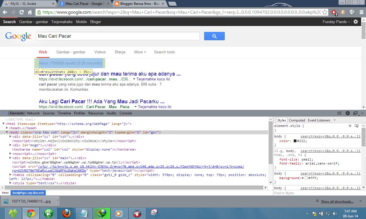 Cara merubah texs di pencarian google