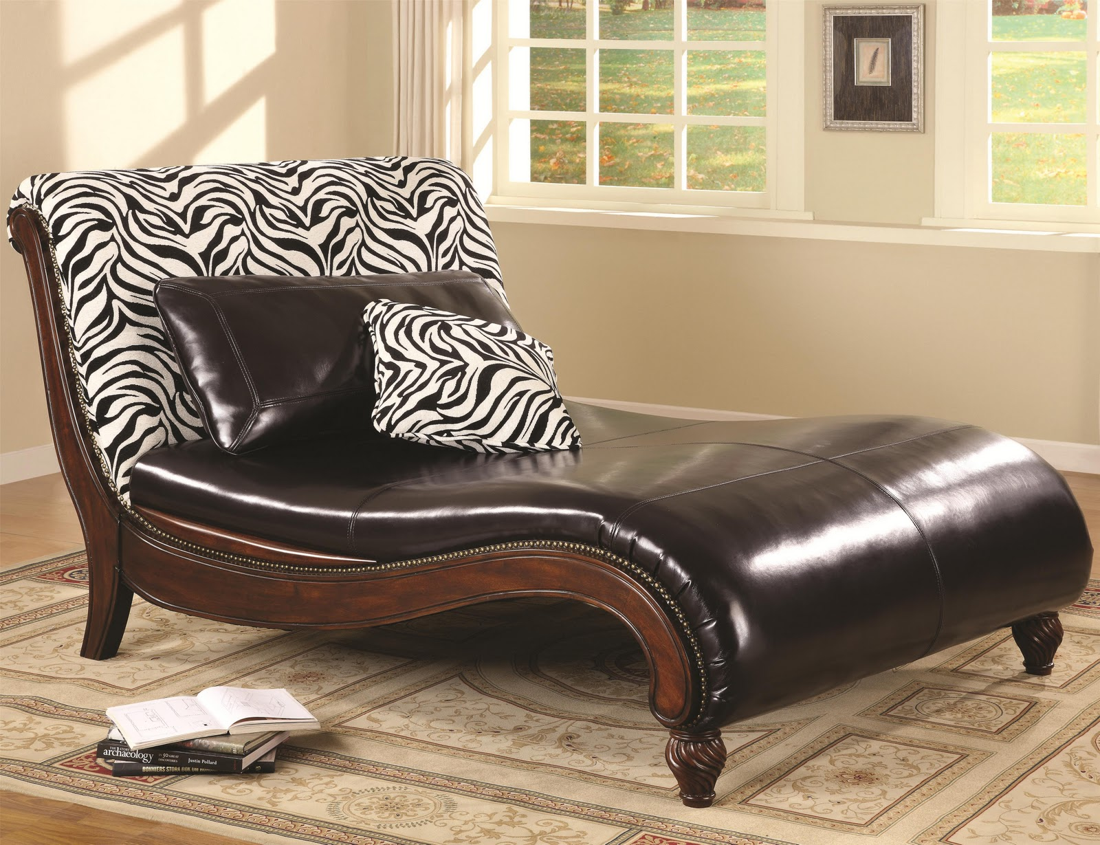 Wide Chairs Living Room Storage Chaise Lounge Rolland Leather Interior Design