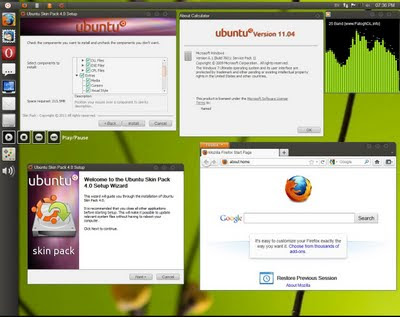 How to make Windows look like Ubuntu