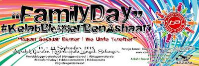 Hari keluarga Kelab Blogger Ben Ashaari