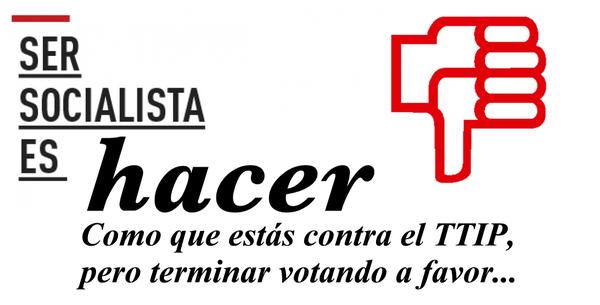 TTIP, PSOE,