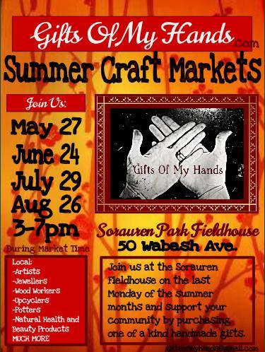 craft market, gifts of my hands, sorauren park fieldhouse, farmers market, artist, malinda prudhomme