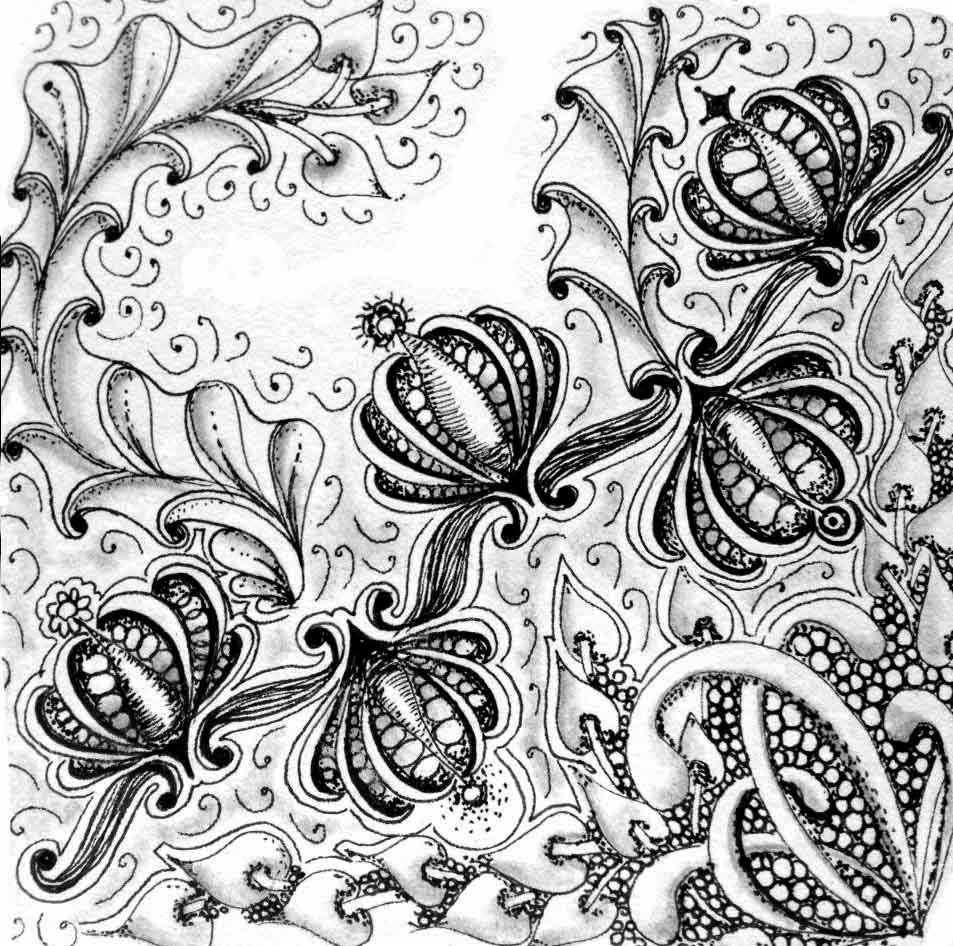 whimsical flowers coloring pages - photo#27