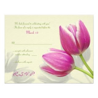 Tarjetas de Boda con Tulipanes, parte 3