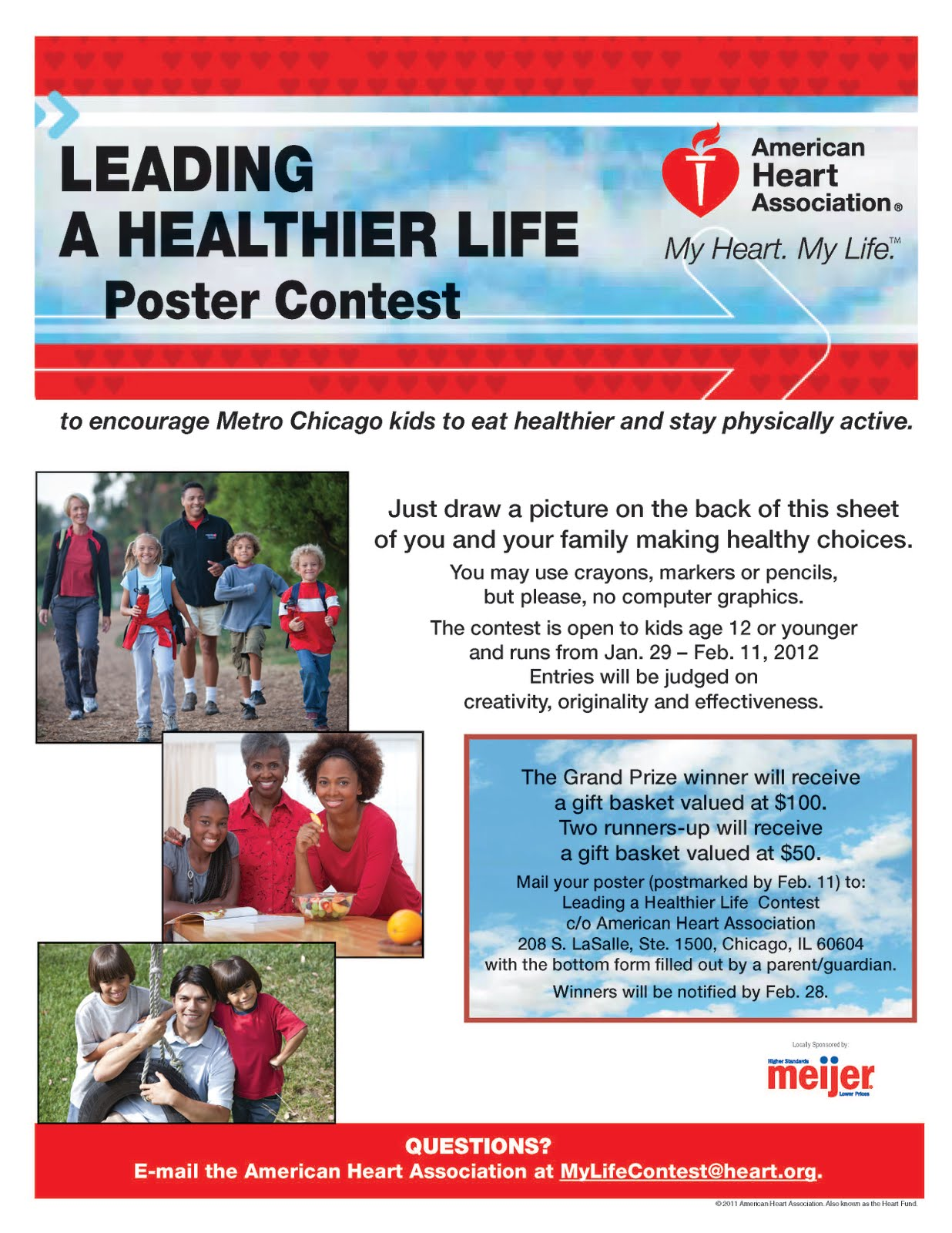 Meijer And AHA Healthy Living Poster Contest
