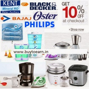 Buy Oster, Philips, Black & Decker, Bajaj & Kent Appliances upto 45% off + 10% off from Rs. 387