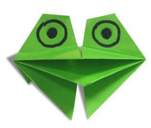 3d origami frog instructions