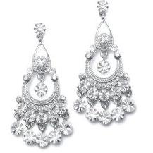 pretty wedding earring