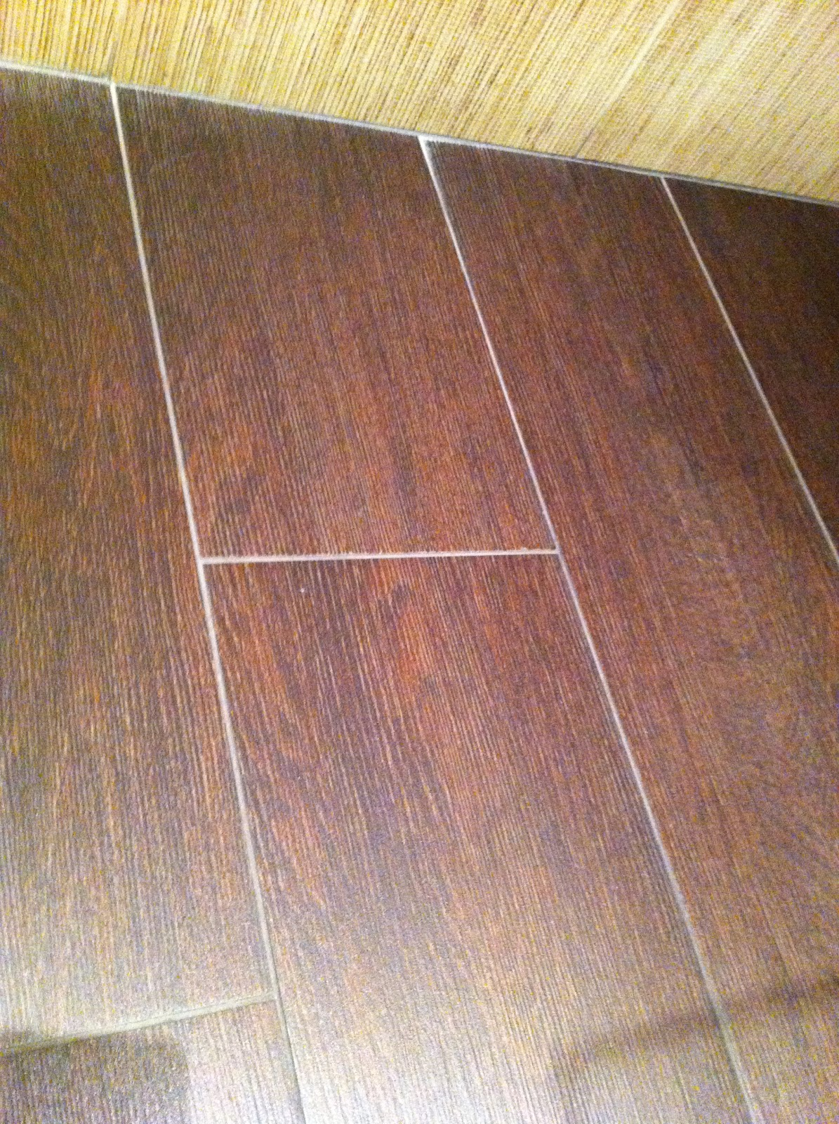 To Da Loos Bamboo Tiles And Fake Wood Floor Porcelaine Tiled Bathroom