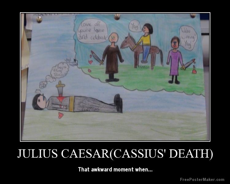 cassius in julius caesar essay The assassination of julius caesar was the result of a conspiracy by many  roman senators led by gaius cassius longinus, decimus junius brutus albinus, .