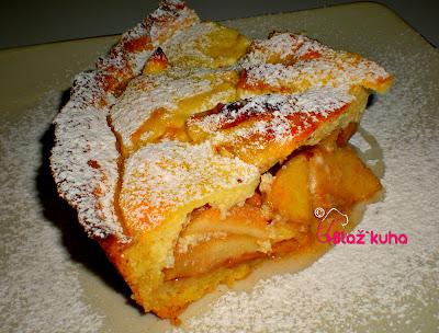 recept jabolčna pita, recept za linško testo, pita z jabolki in skuto