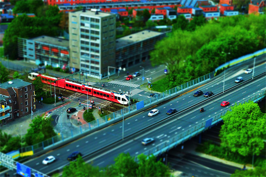 Miniature Effect With Tilt-Shift