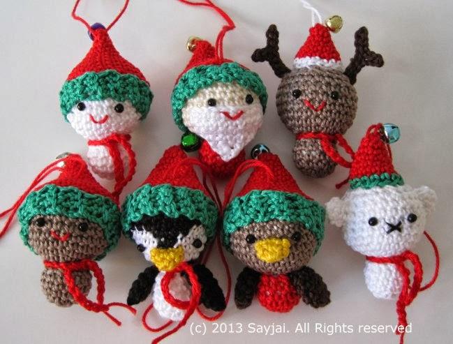 Amigurumi Christmas : Christmas cuties sayjai amigurumi crochet patterns k and j