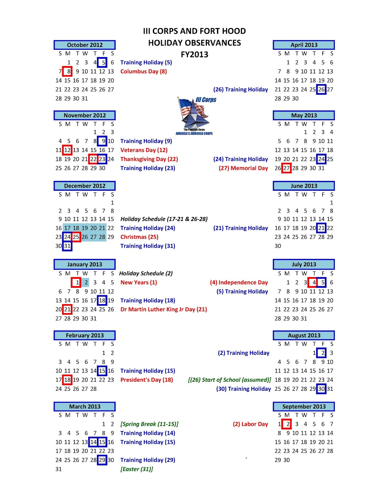 calendar of observances 2013 | just b.CAUSE