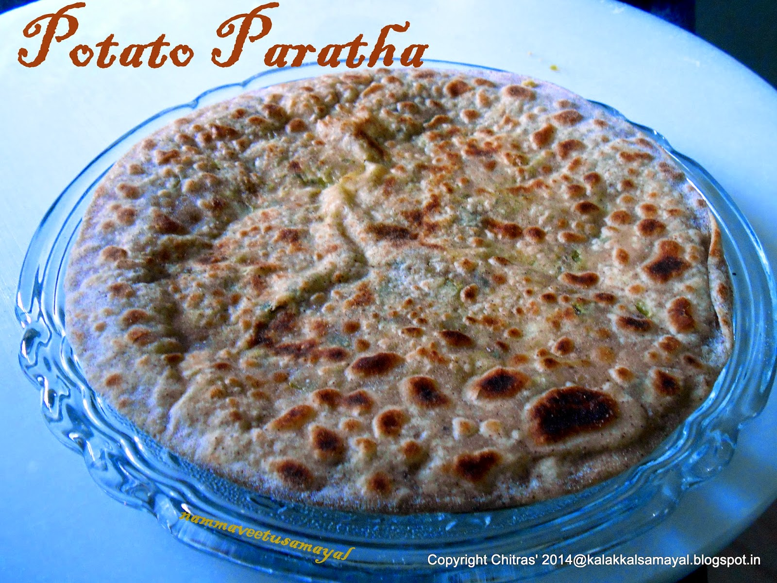 Aloo Paratha [ Potato Paratha ]