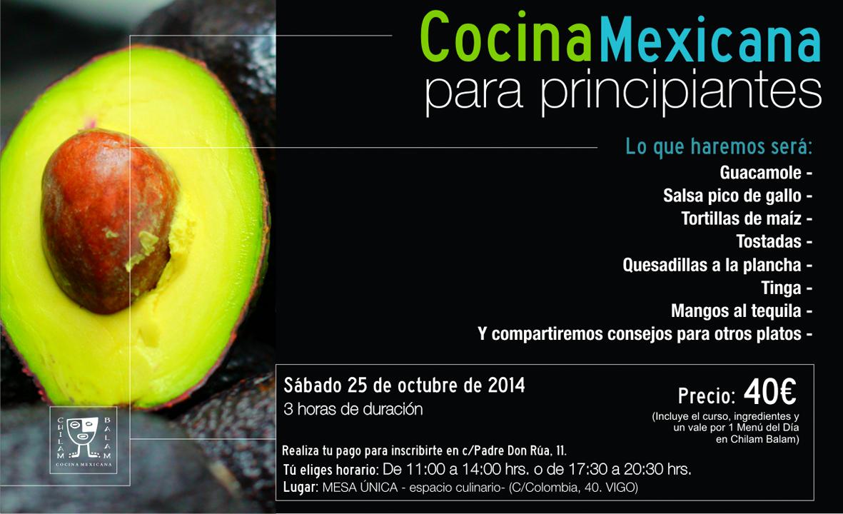 Restaurante mexicano chilam balam for Cocina para principiantes