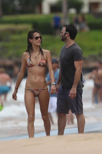 Alessandra Ambrosio – Bikini Candids in Hawaii