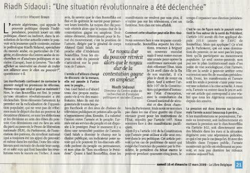 """Riadh Sidaoui: """"Une situation révolutionnaire a été déclenchée, le clan Bouteflika est fini"""""""