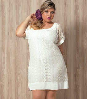vestido de renda branco para gordinhas