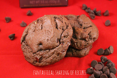 Death by Chocolate Sea Salt Cookies - a devil's food cookie packed with 3 different kinds of chocolate and a touch of sea salt #cookies