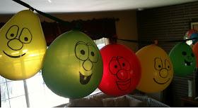 veggietales balloon banner