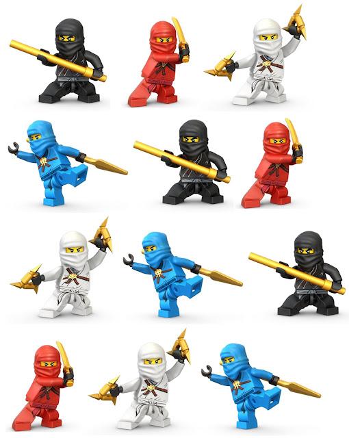 fiesta, Ninjago, imprimibles, imágenes, recortables