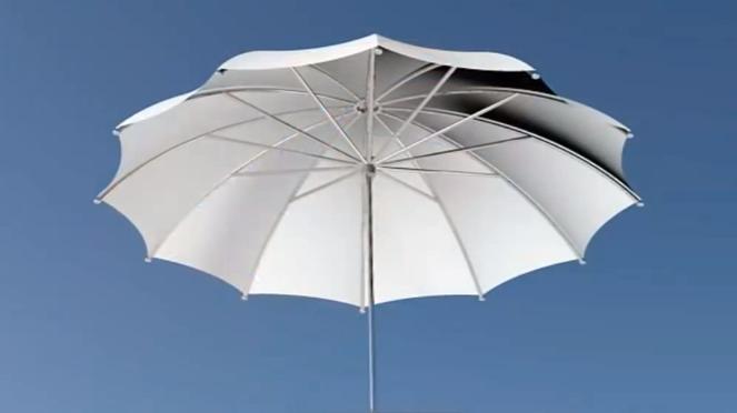 AutoCAD de 3 boyutlu Şemsiye tasarımı