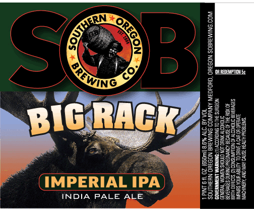 Southern Oregon Big Rack Label