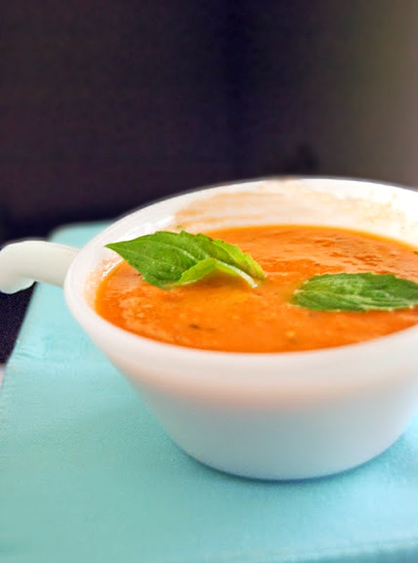 Tomato Basil Soup | by Life Tastes Good #tomatosoup #healthy