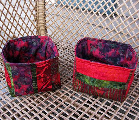 Batik Strippy Baskets