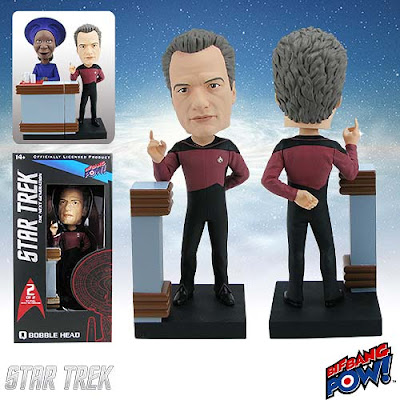 Star Trek: The Next Generation Build-a-10 Forward Q Bobble Head by Bif Bang Pow!