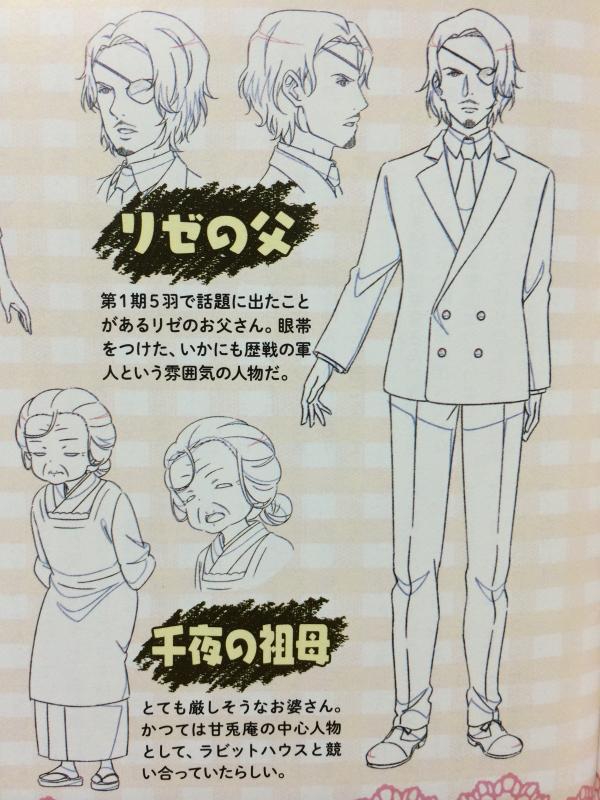 Gochuumon wa Usagi Desu ka?? bocetos 3