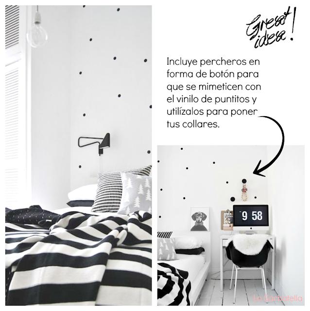 foto habitación nórdica en blanco y negro