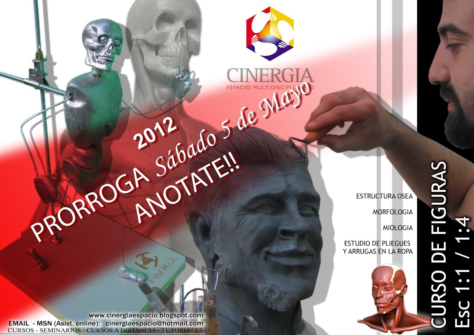 CINERGIA - Espacio de Arte: CURSO DE FIGURAS, ANATOMIA ESCALA 1:1 Y 1:4